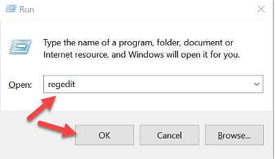 Regedit за създаване на резервно копие на регистъра