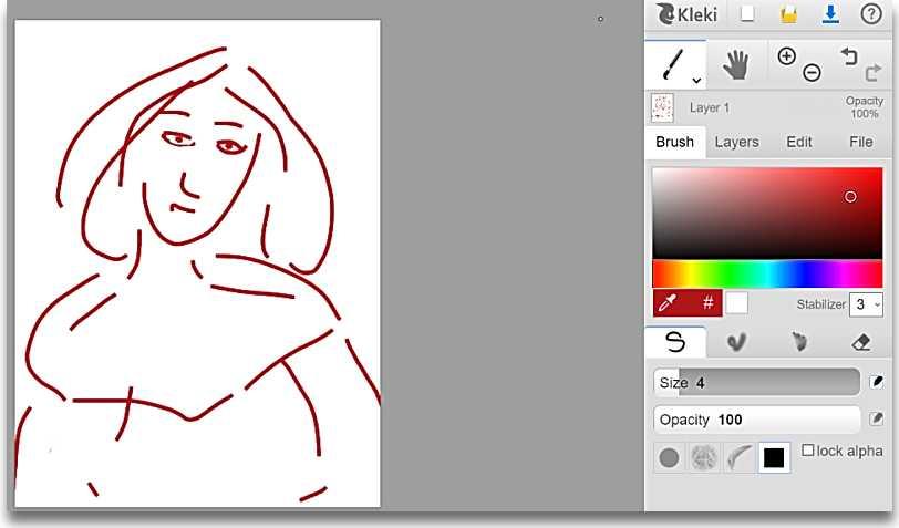 Уебсайтове за рисуване - Kleki
