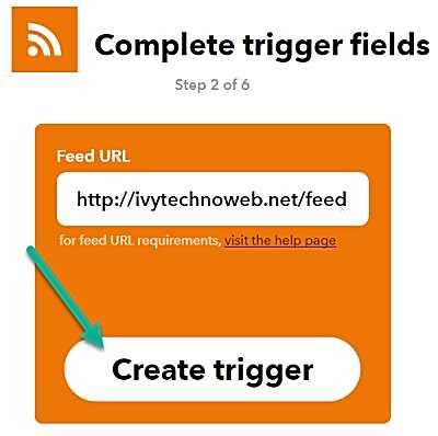 Създаване на тригер с URL