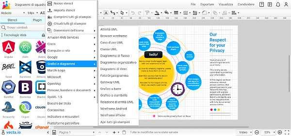 Създаване на графики и диаграми с Vecta.io
