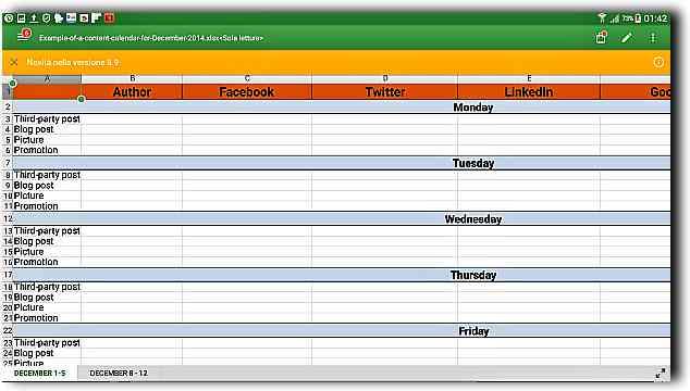Програми за четене на Андроид-3част office suite xlsx