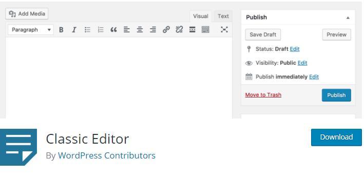 Classic Editor – WordPress