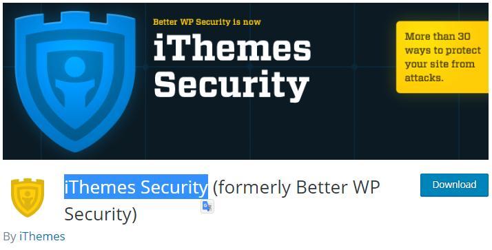 iThemes Security – WordPress plugin