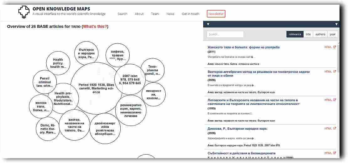 Да търсим и откриваме знания, да учим с най-новата Карта на знанието (Knowledge Map) 4