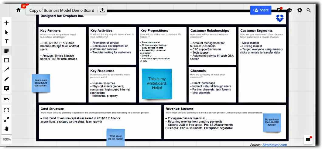 Безплатна интерактивна бяла дъска за множество потребители - 6 сайта Whiteboarding 7
