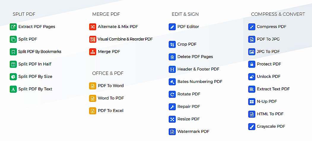 Многофункционален безплатен онлайн pdf редактор Sejda 1
