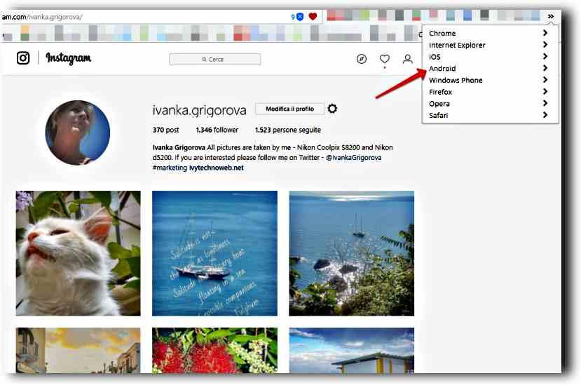 Как да качим снимки на Instagram от компютъра 4
