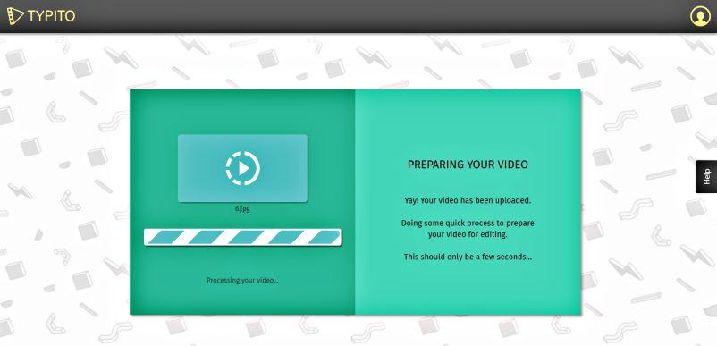 Създаване на видео в анимирана графика безплатно с Typito upload 1
