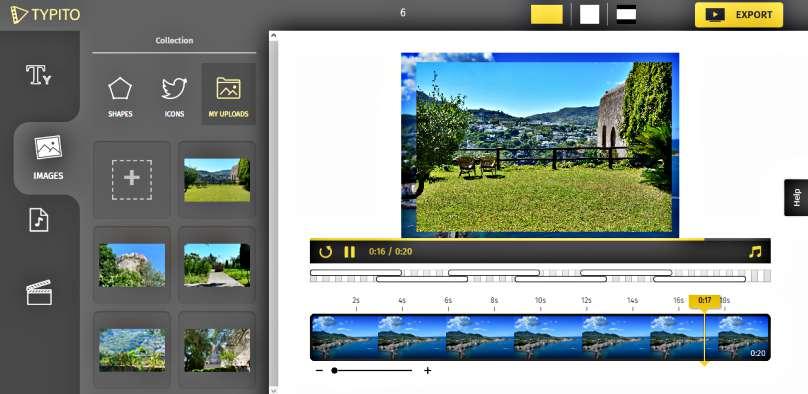 Създаване на видео в анимирана графика безплатно с Typito timeline 2