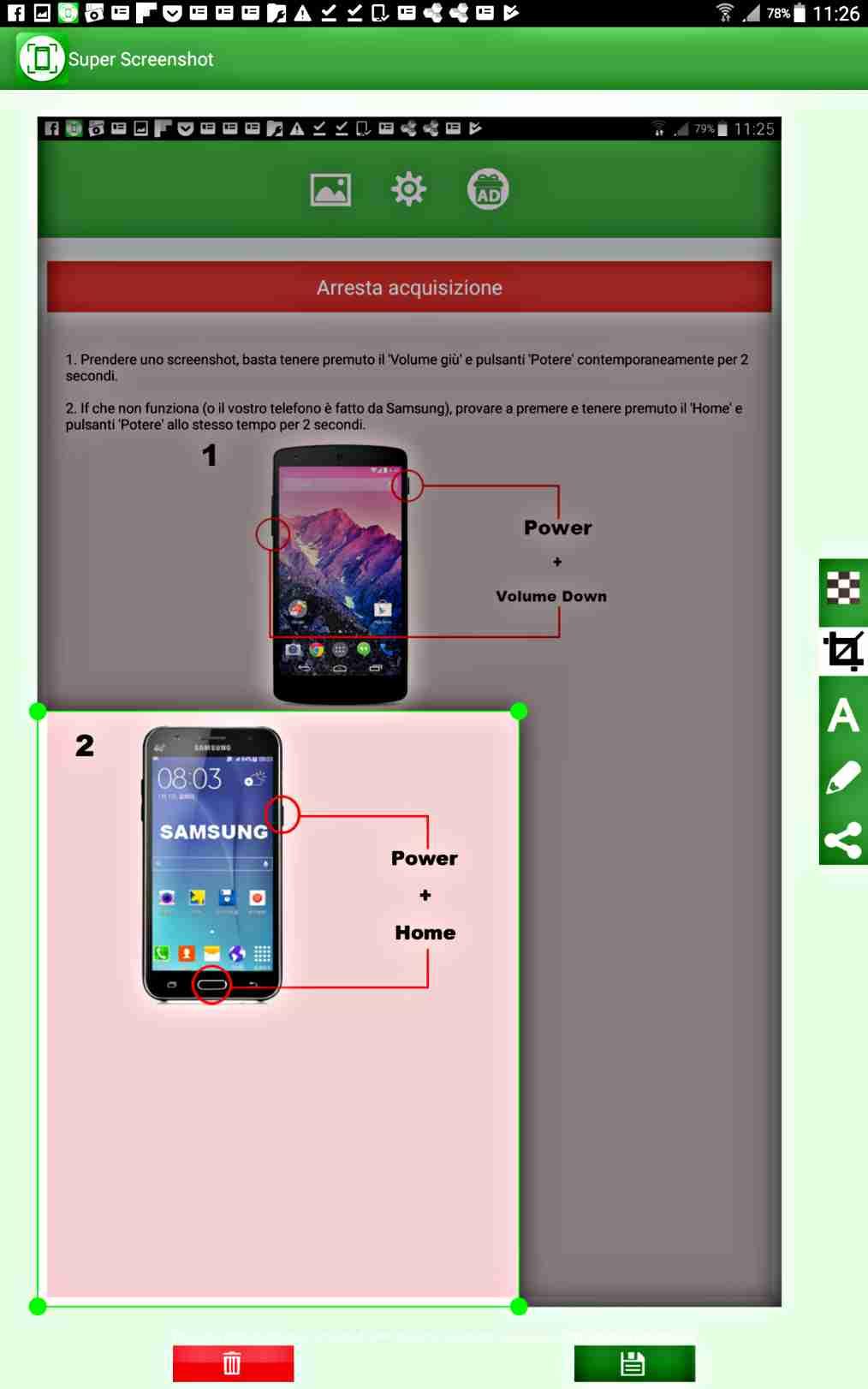 5 най-добри апликации за скрийншот на екрана с Android Screenshot 2