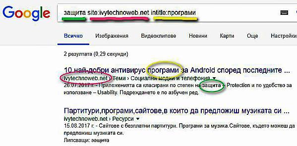 Оператори на Google за разширено търсене - как да ги използваме 14