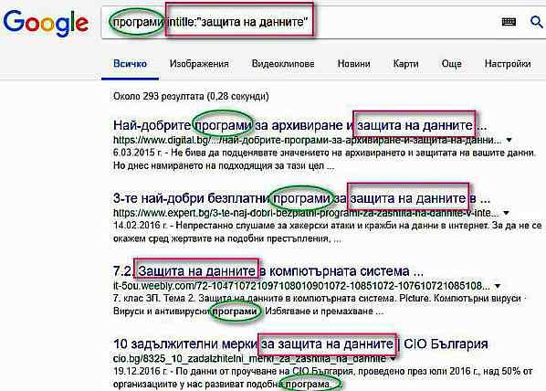 Оператори на Google за разширено търсене - как да ги използваме 2
