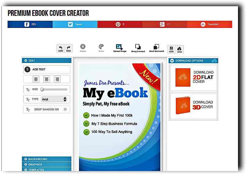 Създаване на 3D корица на книга с Ebook Cover Creator 1