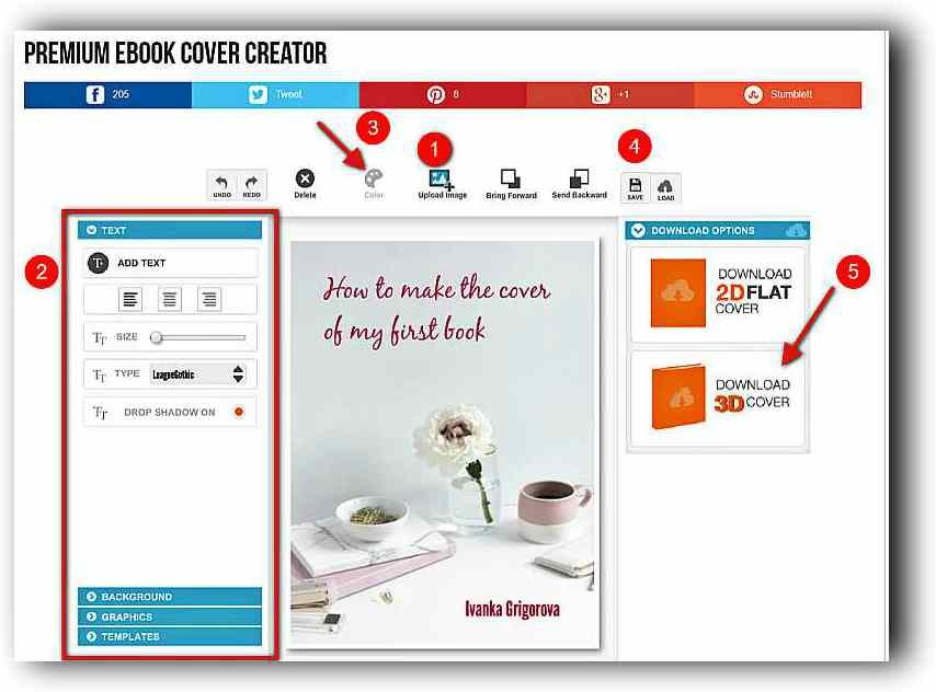 Създаване на 3D корица на книга с Ebook Cover Creator 3