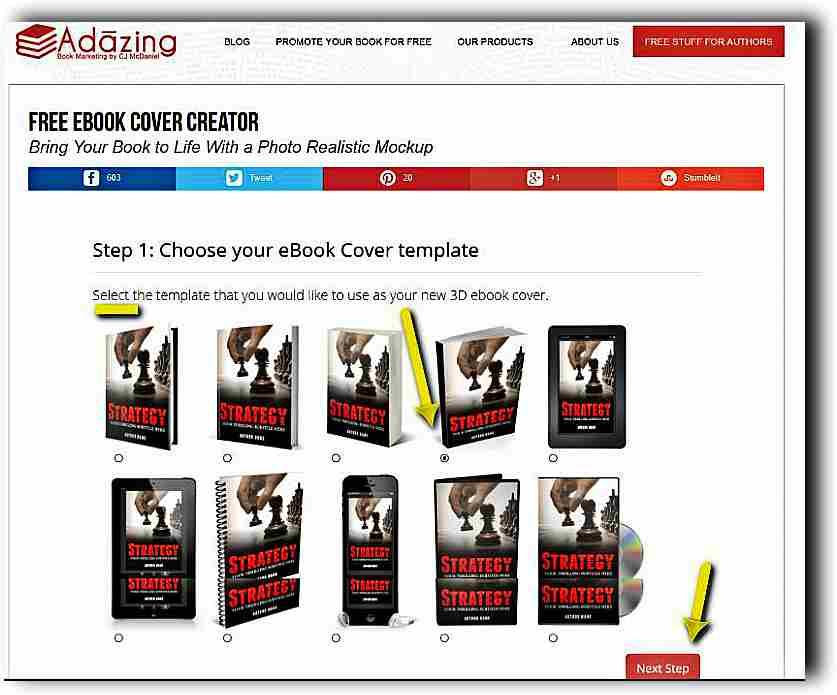 Създаване на 3D корица на книга с Ebook Cover Creator 9