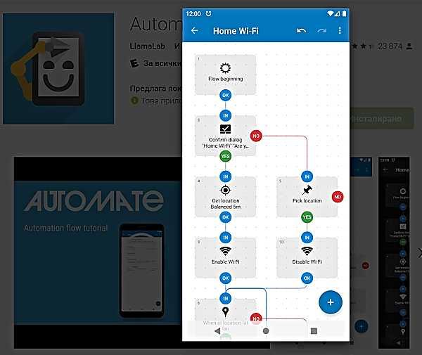 Automate автоматизиране на Android