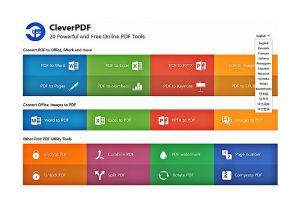 Cleverpdf - 20 инструмента за работа с PDF файлове, без да заплащаме