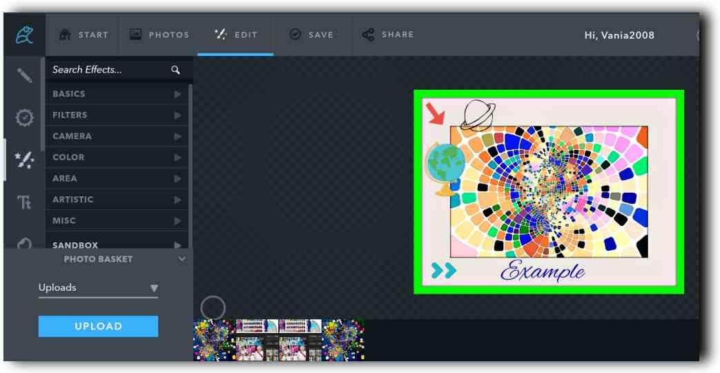 Фото редактор и колажи онлайн с Ribbet 3