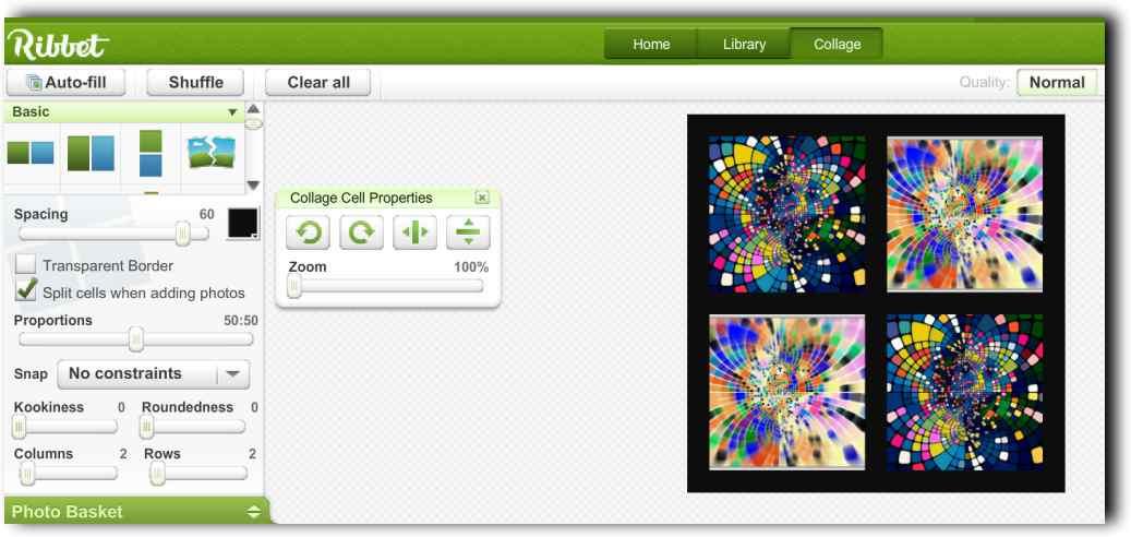 Фото редактор и колажи онлайн с Ribbet 9