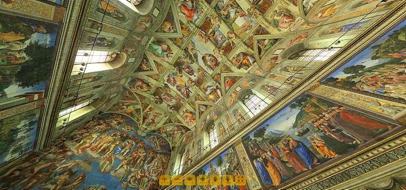 Сикстинската капела - посещение онлайн