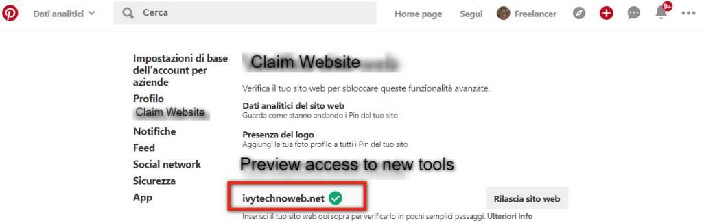 Как да потвърдим сайта си на Pinterest и да използваме безплатен бизнес профил 12