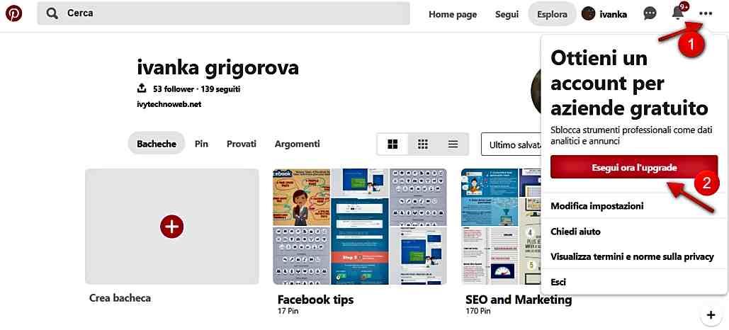 Как да потвърдим сайта си на Pinterest и да използваме безплатен бизнес профил 4