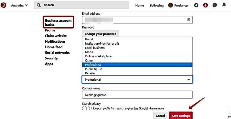 Как да потвърдим сайта си на Pinterest и да използваме безплатен бизнес профил 5