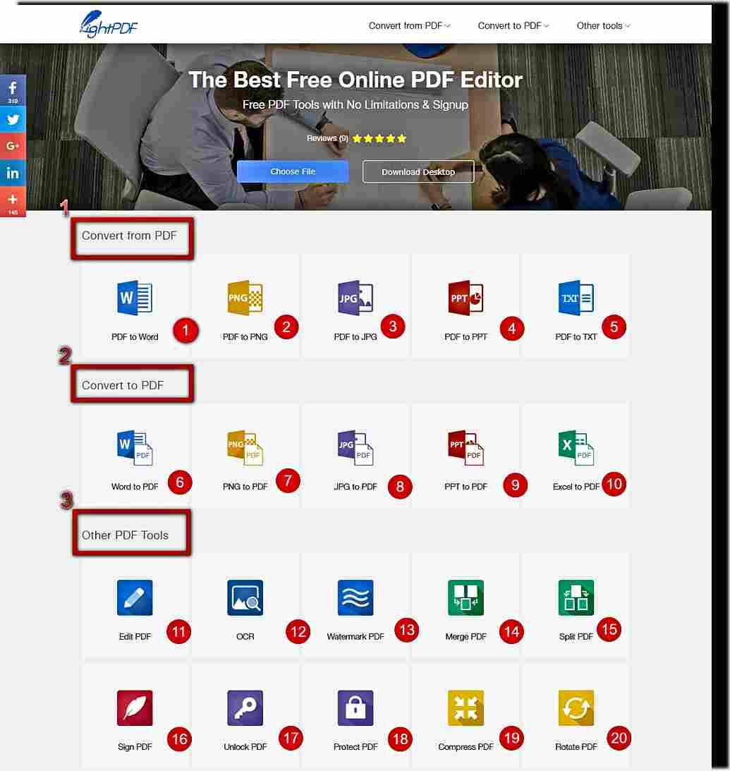 LightPDF - безплатен онлайн PDF инструмент 1