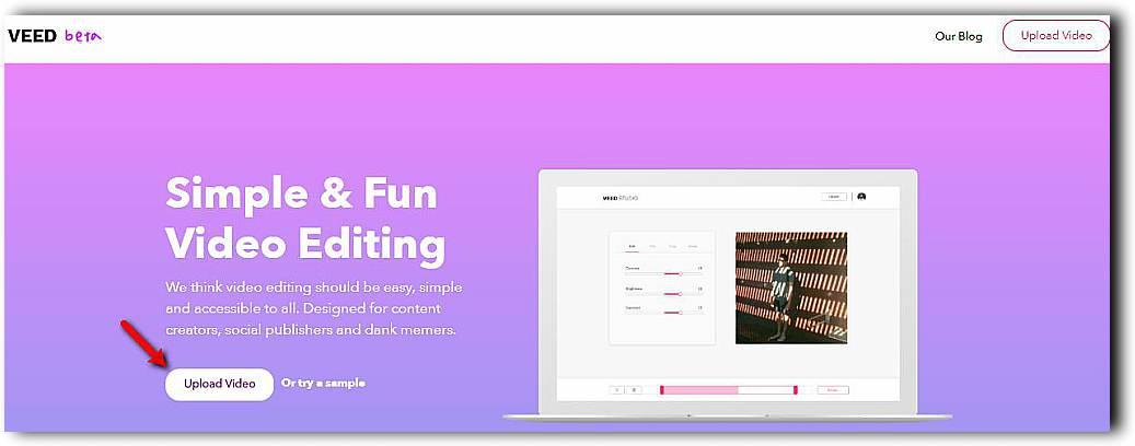 Veed, отличен начин да редактираме видео онлайн 1