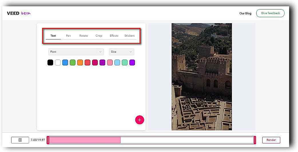 Veed, отличен начин да редактираме видео онлайн 5