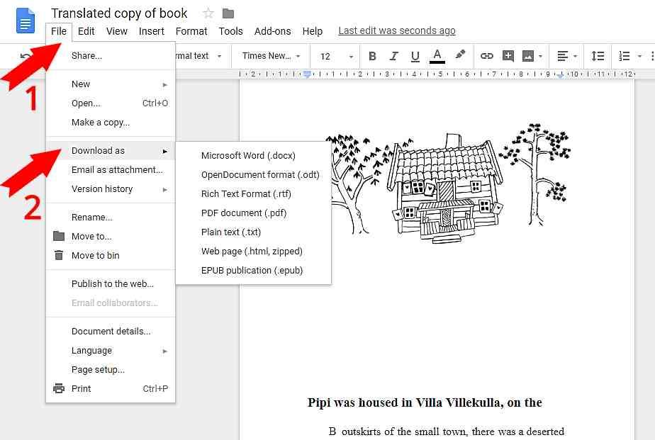 Как да преведем електронни книги и документи с Google Drive 8
