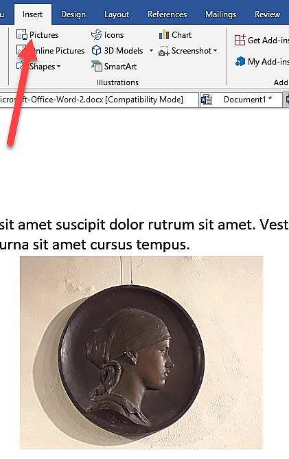Вмъкване на изображение във Word