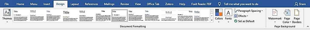 Избор на дизайн при създаване на електронна книга във Word