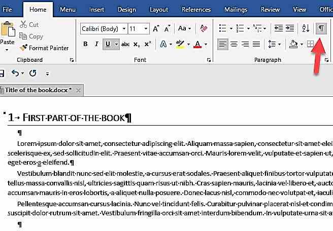 Показване на маркерите за форматиране във Word
