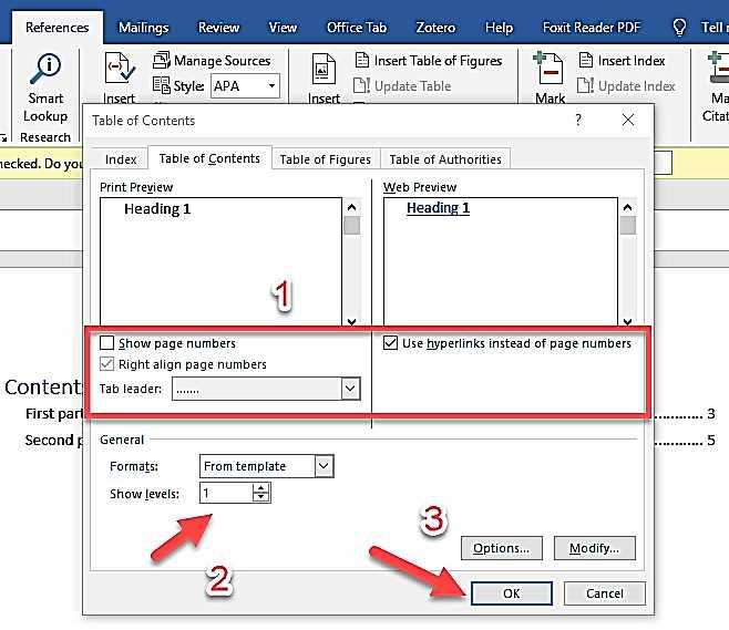 Създаване на индекс на електронна книга - 3