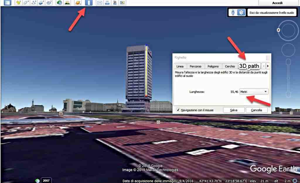 Измерване площта на всяка повърхност с Google Earth 1
