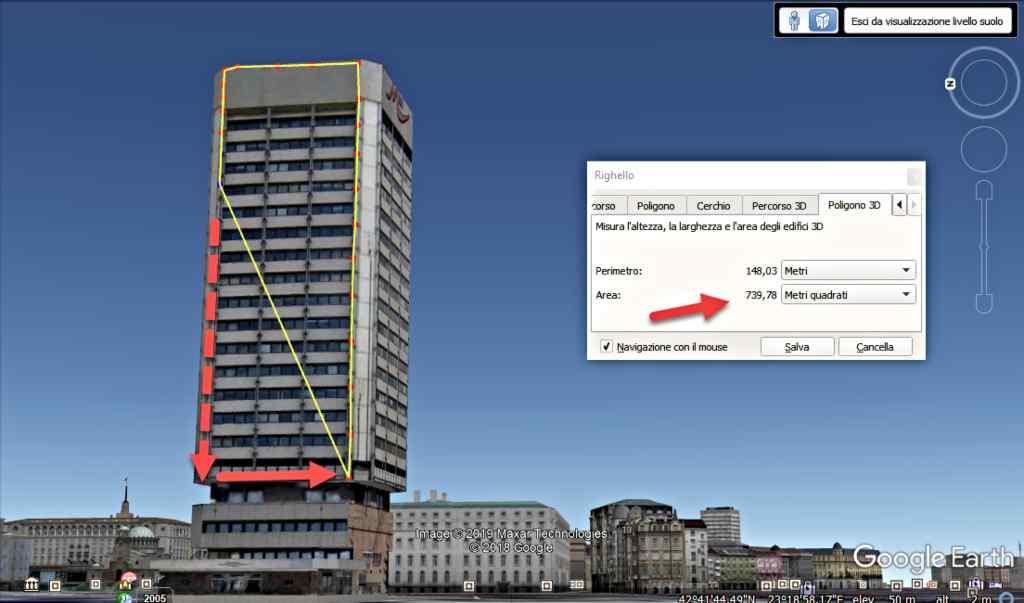 Измерване площта на всяка повърхност с Google Earth 2