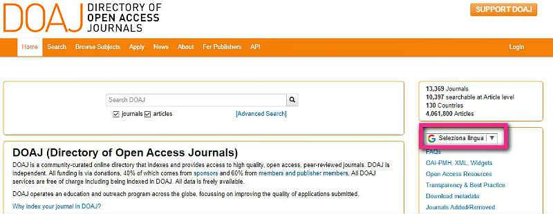 Directory of Open Access Journals-търсачка в Deep Web