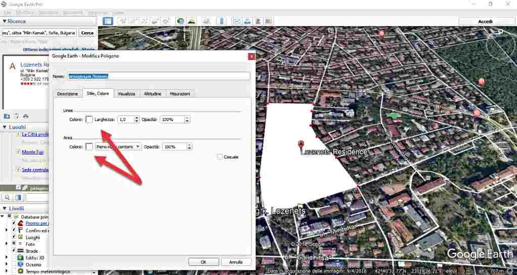 Google Earth-измерване на площ на многоъгълник 1