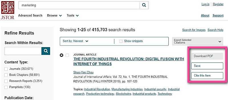 JSTOR - търсачка в Deep Web
