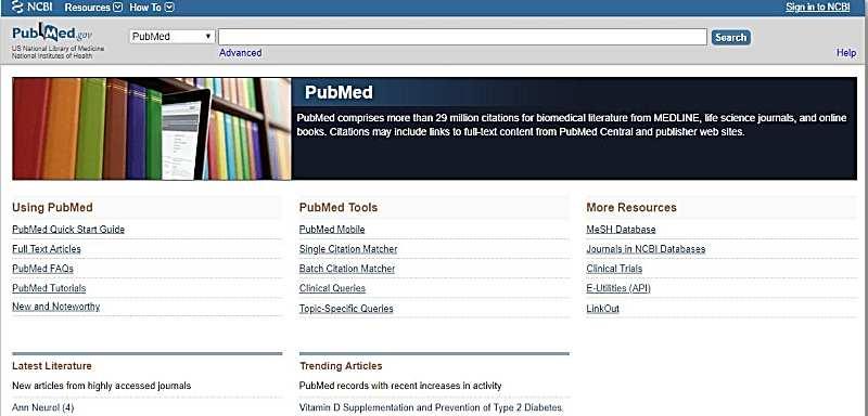 PubMed - търсене в Deep Web