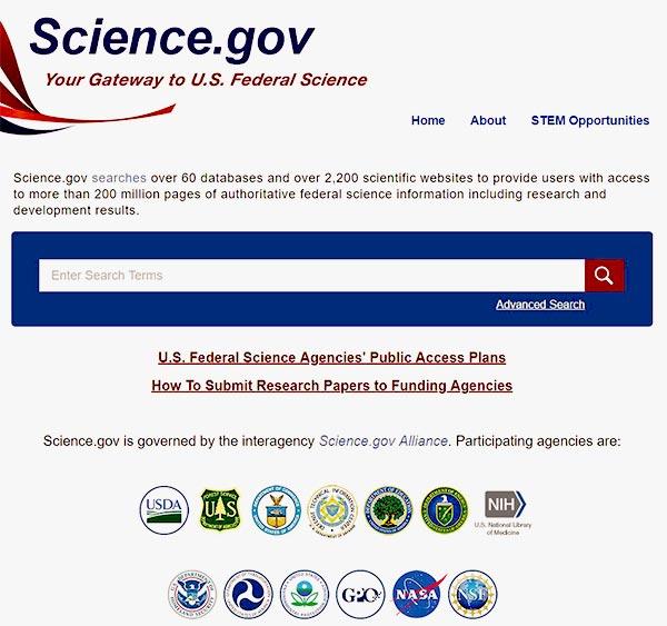 Science gov - търсачки за невидимата мрежа