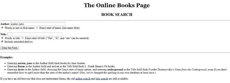The Online Books Page-търсене в Deep Web
