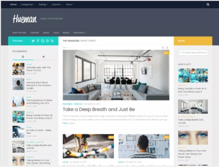 Hueman WordPress org