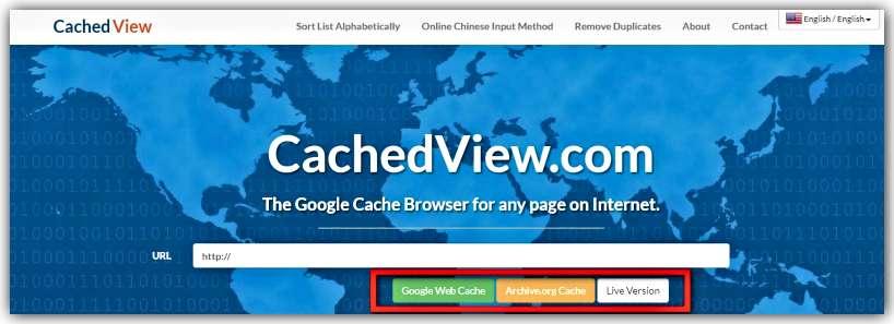 Преглед на Google кеш чрез CachedView