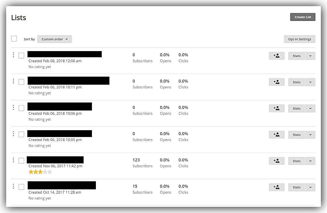 Създаване на списък в MailChimp