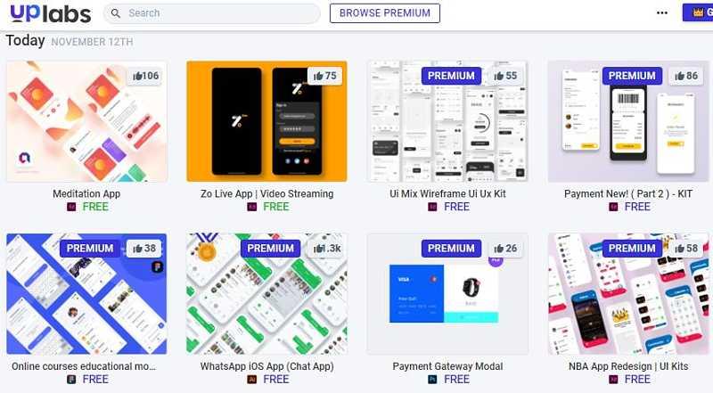 Ресурси за дизайнери от UpLabs