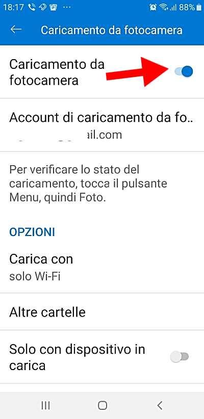 Изключване на автоматично качване на снимки в OneDrive-