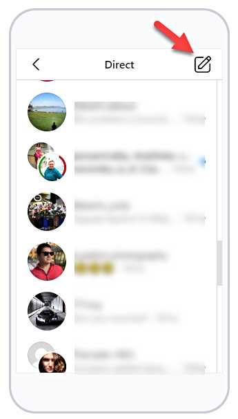 Instagram - действия върху съобщенията