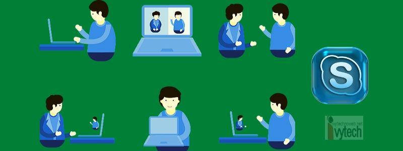Skype видео срещи и записи по време на видеоконференции